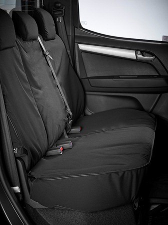 Heavy Duty Canvas Black Seat Covers : Front & Rear  -  IACC2711