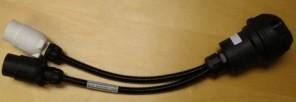 Adaptor Lead 2 x 7 Pin to 13 Pin (Caravan)  -  IMA1001