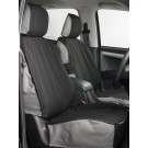 Heavy Duty Canvas Black And Grey Seat Covers : Front  -  IACC2714